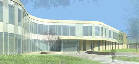 Architectual Drawing of Kirksville School of Osteopathic Medicine